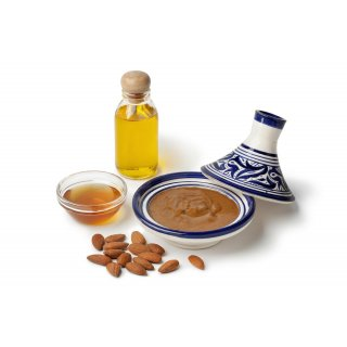 Hymor Amlou Arganöl 200gramm ganze Mandeln Mandelpaste Atlasküche Honig Marokko