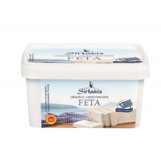Sirtakis Feta 400g Schafkäse Schafskäse in Salzlake 43% Fett i.Tr. Griechenland