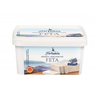 Sirtakis Feta 6x 400g Schafkäse Schafskäse Salzlake 43% Fett i.Tr. Griechenland