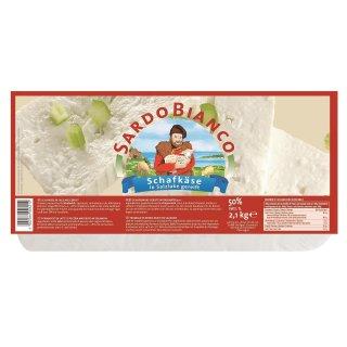 Sardo Bianco Schafkäse 2x 2.1kg 50% Fett Sardischer Schafskäse Vakuum Italien