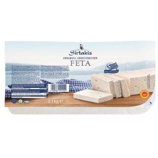 Sirtakis Feta 2,1kg Schafkäse Schafskäse in Salzlake 43% Fett i.Tr. Griechenland