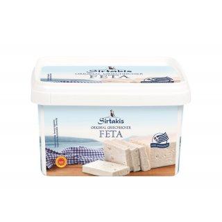 Sirtakis Feta 2x 800g Schafkäse Schafskäse Salzlake 43% Fett i.Tr. Griechenland