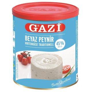 Gazi Hirtenkäse traditionell 6x 500g 45% Fett i.Tr. Käse Kuhmilch Beyaz Peynir