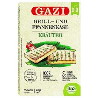 Gazi BIO Grill- und Pfannenkäse Kräuter 12x 160g 43% Grillkäse Pfanne vakuumiert