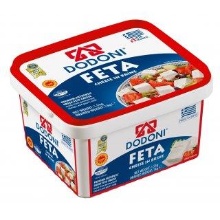 Dodoni Feta 1kg Schafkäse Schafskäse in Salzlake 43% Fett i.Tr. aus Griechenland
