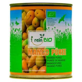 reinBIO BIO Mangopüree 4x 3kg Püree Mango Mangomus püriert Indien Obstkonserve