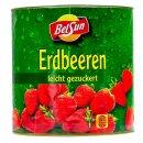 BelSun Erdbeeren 12x 925g leicht gezuckert eingelegte Erdbeere Dose Obstkonserve
