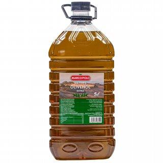 Marco Polo Natives Olivenöl extra 5 Liter extra vergine Öl kaltgepresst Flasche