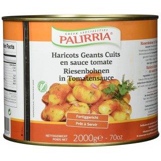 Palirria Riesenbohnen 2x 2kg gekocht in Zwiebel-Tomatensauce Griechische Bohnen