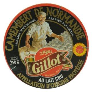 Gillot Noir Camembert de Normandie AOP 6x 250g französischer Weich-Käse Rohmilch