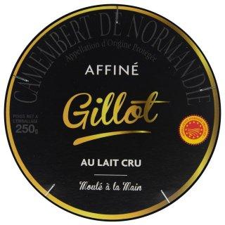 Gillot Gourmet Camembert de Normandie 3x 250g französischer Weich-Käse Rohmilch